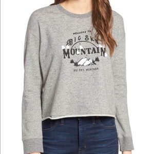 Madewell Big Sky Montana Cropped Gray Sweatshirt